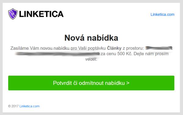 Email od Linketica.com