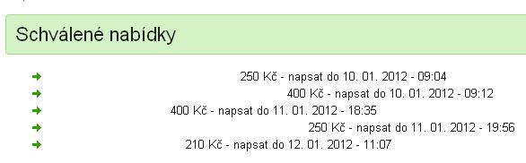 Schválené nabídky placla.cz